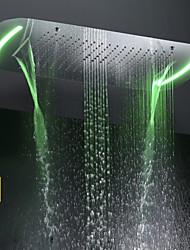 Недорогие -71x43 cm ванная душевая головка / нержавеющая сталь sus 304 / современный / пузырь распыляющий водопад дождь четыре функции / с ярким светодиодным светом, измененным сенсорной панелью