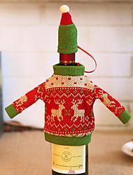 رخيصةأون -حقائب النبيذ وحمالاته عطلة منسوجات Cube حداثة زينة عيد الميلاد