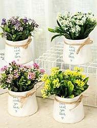 billige -Kunstige blomster 1 Afdeling Klassisk / Enkel Stilfuld / Moderne Planter / Vase Bordblomst