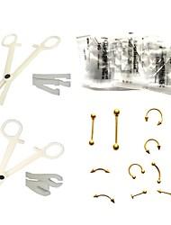 Недорогие -Инструменты для татуировки lanjue / прочные / профессиональные комплекты для пирсинга пластмасс