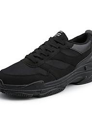 abordables -Homme Chaussures de confort Daim Automne hiver Décontracté Basket Noir / Gris / Noir et blanc