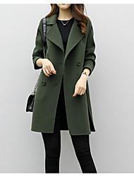 Недорогие -Жен. Пальто Классический - Однотонный