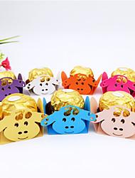 abordables -Cubique Papier carton Titulaire de Faveur avec Motif floral perlé & dispersé / Motif / Impression Boîtes Cadeaux - 50pcs