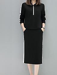 お買い得  -女性用 ニット ソリッド スカート
