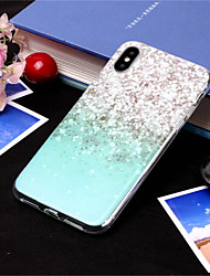 Недорогие -Кейс для Назначение Apple iPhone XS / iPhone XS Max С узором Кейс на заднюю панель Градиент цвета Мягкий ТПУ для iPhone XS / iPhone XR / iPhone XS Max
