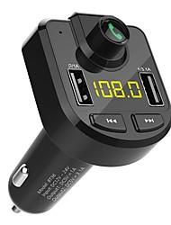 abordables -ziqiao bt-36 bluetooth bt kit mains libres avec double chargeur USB 3.1a chargeur de voiture lecteur mp3 émetteur fm