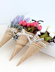 billige -Kunstige blomster 1 Afdeling Klassisk / Enkel Stilfuld / Moderne Roser / Lyseblå Bordblomst