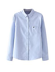 billige -Dame - Ensfarvet Basale Skjorte