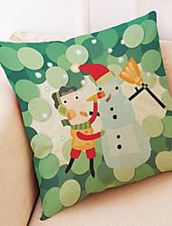 baratos -Cobertura de Almofada Natal Tecido de Algodão Quadrada Novidades Decoração de Natal