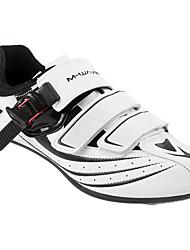 Недорогие -21Grams Обувь для шоссейного велосипеда Углеволокно Дышащий, Амортизация, Вентиляция Велосипедный спорт / Велоспорт / Для велоспорта Белый Муж. Обувь для велоспорта / Ультралегкий (UL)