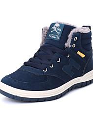 abordables -Homme Chaussures de confort Daim Hiver Décontracté Bottes Garder au chaud Vert
