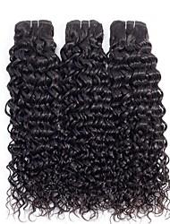 voordelige -3 bundels Braziliaans haar Watergolf 8A Echt haar Niet verwerkt Menselijk Haar Menselijk haar weeft Verlenging Bundle Hair 8-28 inch(es) Natuurlijke Kleur Menselijk haar weeft Zijdeachtig Klassiek