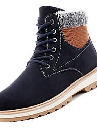 Недорогие -Муж. Fashion Boots Полиуретан Осень На каждый день Ботинки Нескользкий Сапоги до середины икры Черный / Синий / Хаки