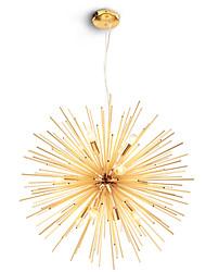 abordables -lustre moderne en métal feux d'artifice nord de l'europe salon vintage salle à manger pendentif lumières e12 / e14 ampoule base