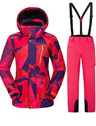 Недорогие -Vector Жен. Лыжная куртка и брюки С защитой от ветра, Теплый, Лыжные очки Катание на лыжах / Отдых и Туризм / Сноубординг Полиэфир Брюки / Снегурочка / Верхняя часть Одежда для катания на лыжах