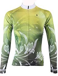 baratos -ILPALADINO Mulheres Manga Longa Camisa para Ciclismo - Verde Moderno Moto Blusas Inverno, Elastano
