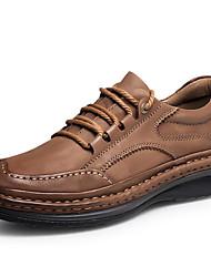 Недорогие -Муж. Официальная обувь Наппа Leather Осень Классика / Английский Туфли на шнуровке Массаж Черный / Коричневый / Для вечеринки / ужина