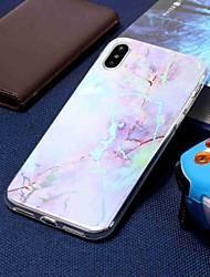 billige -Etui Til Apple iPhone XR / iPhone XS Max Belægning / Mønster Bagcover Marmor Blødt TPU for iPhone XS / iPhone XR / iPhone XS Max