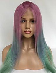 Недорогие -Натуральные волосы Лента спереди Парик Бразильские волосы Бирманские волосы Прямой Парик 130% Плотность волос с детскими волосами Женский Лучшее качество Горячая распродажа Удобный Разноцветный Жен.