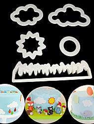 Недорогие -Инструменты для выпечки пластик Очаровательный / Креатив Повседневное использование / Торты куб Формы для пирожных 5 шт.