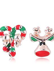ieftine -Pentru femei mismatched Cercei Stud - Elk European, Modă, Cute Stil Auriu Pentru Crăciun Zilnic