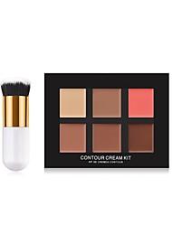 billiga Ansikte-6 färger Matt Concealer Concealer # Mode Fullständig Täckning Dagligen / Dagliga kläder / Datum Smink Kosmetisk
