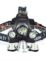 Недорогие -Налобные фонари Фары для велосипеда Светодиодная лампа Cree XM-L T6 излучатели 10000 lm 1 Режим освещения Угловой фонарь, Подсветка для авто, Очень легкие