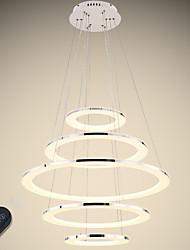 baratos -VALLKIN 5-luz Circular Lustres Luz Ambiente Galvanizar Acabamentos Pintados Metal Acrílico Ajustável, Regulável 110-120V / 220-240V Dimmable Com Controle Remoto
