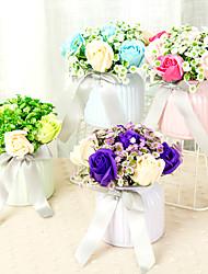 billige -Kunstige blomster 1 Afdeling Klassisk Fest / Bryllup Roser Bordblomst