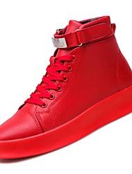 abordables -Homme Chaussures de confort Polyuréthane Automne Basket Blanc / Noir / Rouge