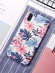 Недорогие -Кейс для Назначение Apple iPhone XR / iPhone XS Max С узором Кейс на заднюю панель Цветы Твердый ПК для iPhone XS / iPhone XR / iPhone XS Max