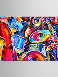Недорогие -Hang-роспись маслом Ручная роспись - Натюрморт Modern Без внутренней части рамки / Рулонный холст