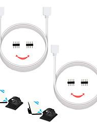 Недорогие -zdm® 2шт 300 см smd 5050 / smd 2835/3528 smd полоска свет аксессуар / линия для удлинения провода для провода электрический кабель пластик& металл для прокладки ленты rgb