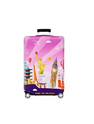 Недорогие -Полиэстер Чехол для чемодана Молнии Красно-черный / Розовый / Черно-белый