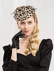 Недорогие -100% шерсть Кентукки дерби шляпа / Головные уборы с Леопардовый принт / Бант 1шт Повседневные / На каждый день Заставка