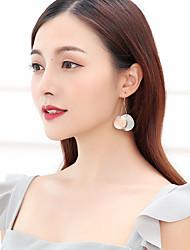ieftine -Pentru femei Mingi de bal Cercei Față & Spate - Placat cu platină, Placat Cu Aur Roz Simplu, Corean Auriu Deschis Pentru Stradă