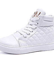 Недорогие -Жен. Комфортная обувь Полиуретан Осень На каждый день Кеды На плоской подошве Круглый носок Белый / Черный