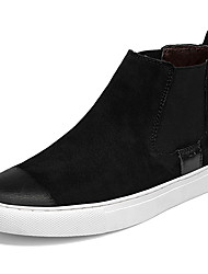 baratos -Homens Sapatos Confortáveis Pele Outono Esportivo / Casual Tênis Manter Quente Preto / Branco e Preto