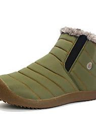 Недорогие -Жен. Зимние сапоги Хлопок Зима На каждый день / Минимализм Ботинки На плоской подошве Круглый носок Черный / Темно-синий / Светло-Зеленый