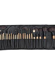 baratos -24pcs Pincéis de maquiagem Profissional Pincel para Blush / Pincel para Sombra / Pincel para Lábios Cobertura Total De madeira / bambu