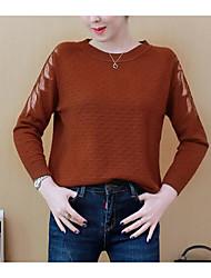 Недорогие -женский длинный рукав из хлопка - сплошной цвет