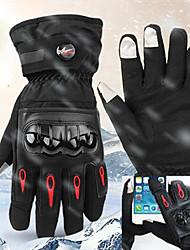 Недорогие -Спортивные перчатки / Зимние / Лыжные перчатки Муж. / Жен. Полный палец С защитой от ветра / Водонепроницаемость / Сохраняет тепло Полиэфир / полиамид / С начесом / Полиэфирное микроволокно