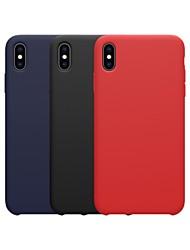 Недорогие -Nillkin Кейс для Назначение Apple iPhone XR / iPhone XS Max Защита от удара / Детский Безопасный случай Кейс на заднюю панель Однотонный Мягкий силикагель для iPhone XS / iPhone XR / iPhone XS Max