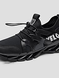 Недорогие -Муж. Комфортная обувь Сетка Весна & осень На каждый день Спортивная обувь Дышащий Контрастных цветов Белый / Черный