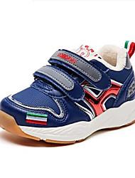 Недорогие -Мальчики Обувь Замша Наступила зима Удобная обувь Спортивная обувь Для прогулок На липучках для Дети Серый / Синий