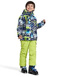Недорогие -Wild Snow Мальчики Девочки Лыжная куртка и брюки С защитой от ветра Теплый Вентиляция Катание на лыжах Разные виды спорта Снежные виды спорта Полиэстер Сетка Наборы одежды Одежда для катания на лыжах