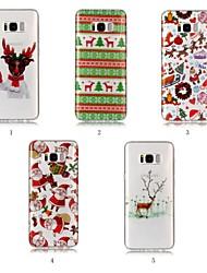 billiga -fodral Till Samsung Galaxy S9 Plus / S8 Plus IMD / Mönster Skal Jul Mjukt TPU för S9 / S9 Plus / S8 Plus