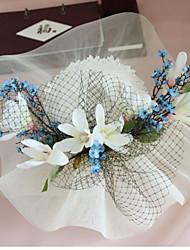 Недорогие -Ткань Головные уборы с Нефритовые подвески / Цветы 1 шт. Свадьба / Особые случаи Заставка