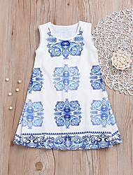 זול -שמלה ללא שרוולים דפוס בנות תִינוֹק