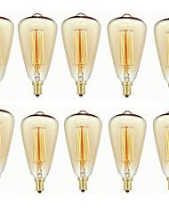Недорогие -10 шт. 40 W E14 ST48 Тёплый белый 2200-2700 k Ретро / Диммируемая / Декоративная Лампа накаливания Vintage Эдисон лампочка 220-240 V